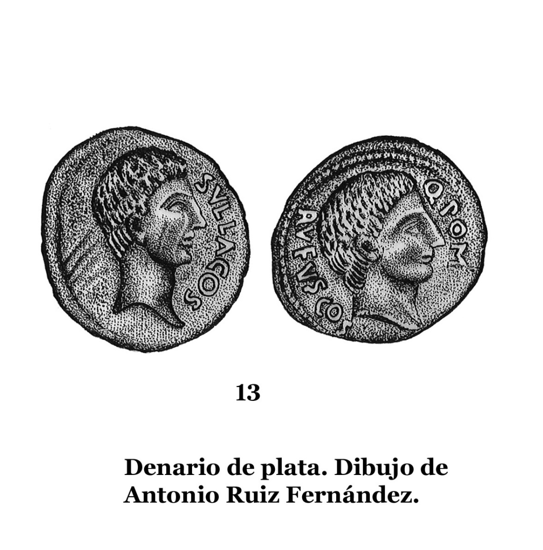 13 DENARIOS DE PLATA, DIBUJOS 13