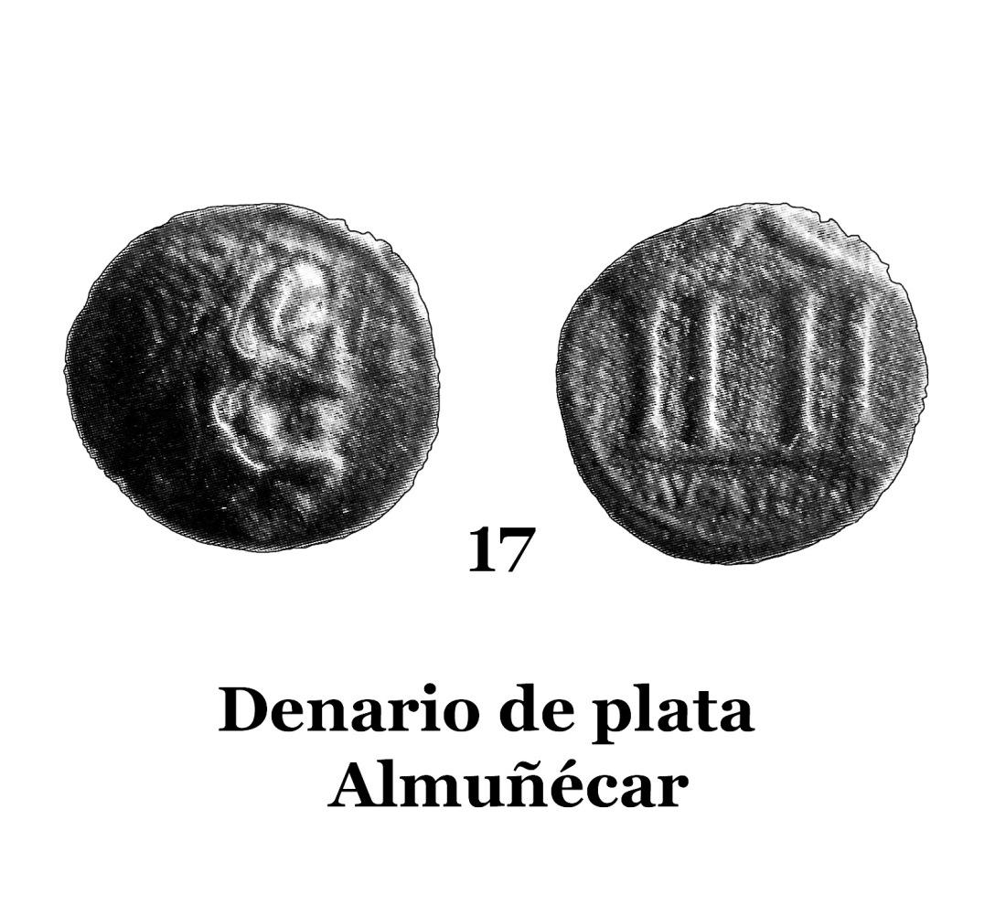 17Denario de plata de Almuñécar 17