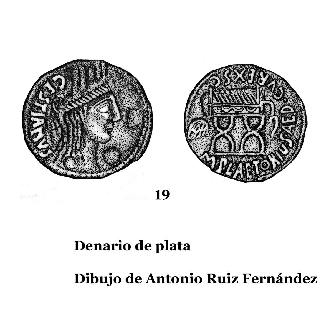 19Denarios de plata 2 Dibujos 19