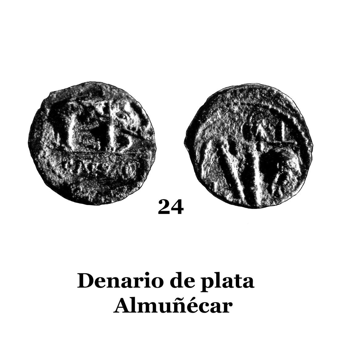 24Denario de plata de Almuñécar 24