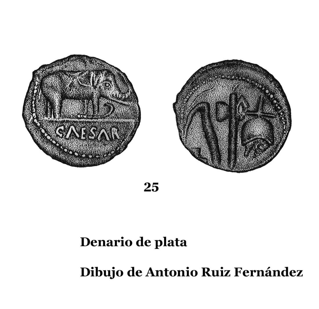 25DENARIOS DE PLATA, DIBUJOS 25