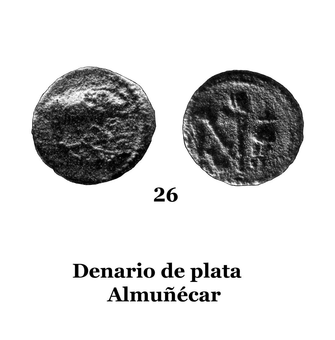 26Denario de plata de Almuñécar 26