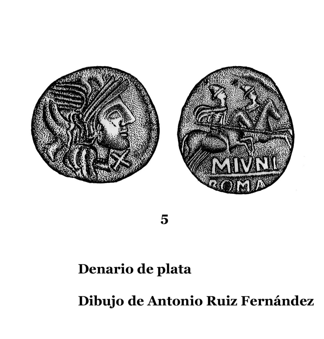 5DENARIOS DE PLATA, DIBUJOS 5