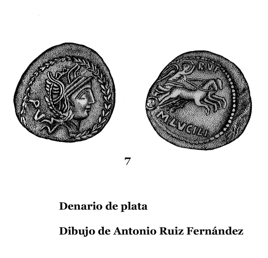 7DENARIOS DE PLATA, DIBUJOS 7